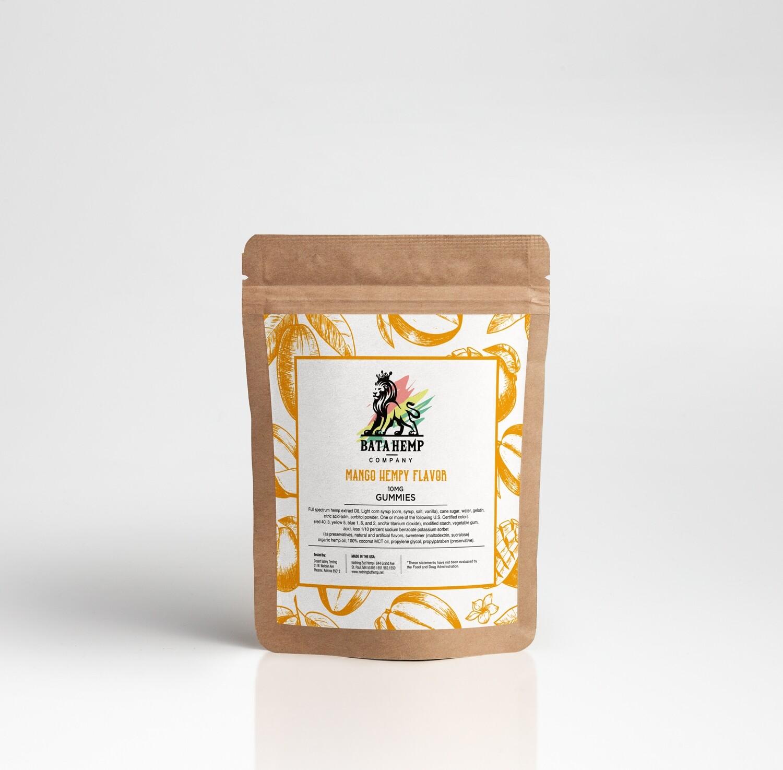 Bata D8 Hemp Gummies   Mango   3 Packs of 10 bundle pack (offered online only)