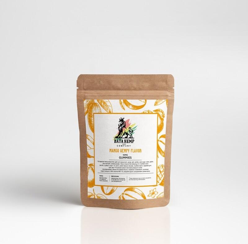 Bata D8 Hemp Gummies | Mango | 3 Packs of 10 bundle pack (offered online only)
