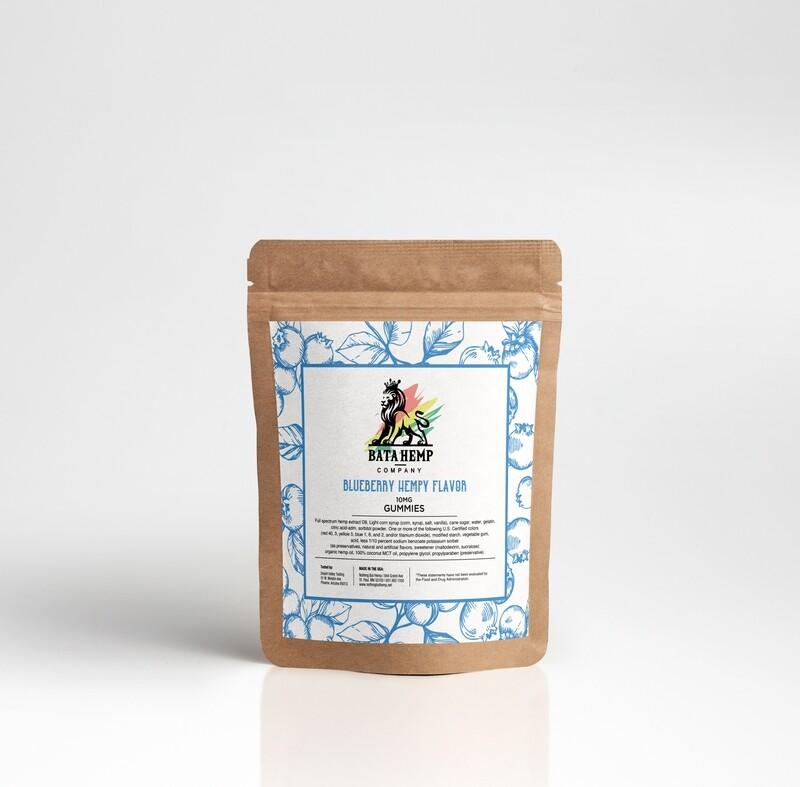 Bata D8 Hemp Gummies | Blueberry | 3 Packs of 10 bundle pack (offered online only)