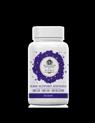 Nothing But Hemp Night Time Gel Capsules  | Sleep formula | 10MG CBD | 10MG CBN | 5MG Melatonin