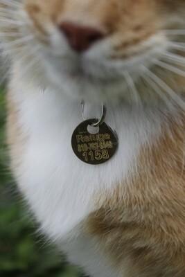 Médaille pour chat stérilisé