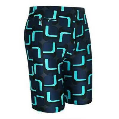 Mens Plus Size Spa Surf Zipper Pocket Printing Beach Swimming Shorts Knee Length Trunks