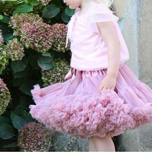 Kid Girls Lovely Bowknot Tulle Dance Princess Tutu Skirts Multi Colors
