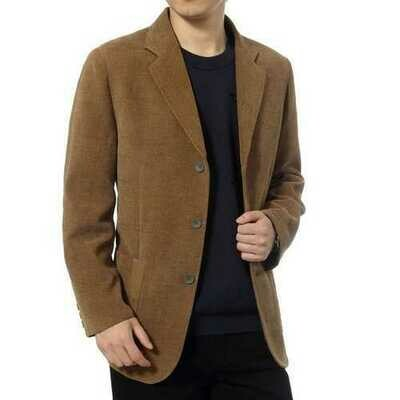 Men's Business Cotton Single Breasted Casual Trench Coat