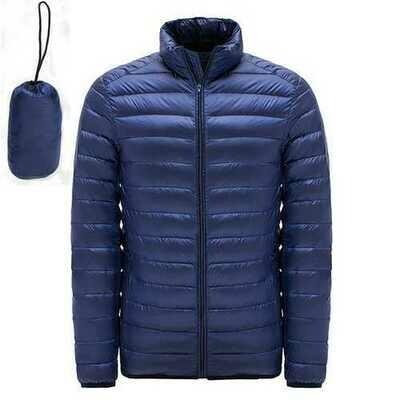 Big Size Mens Light Weight Duck Down Jacket Windproof Warm Casual Jacket Coat
