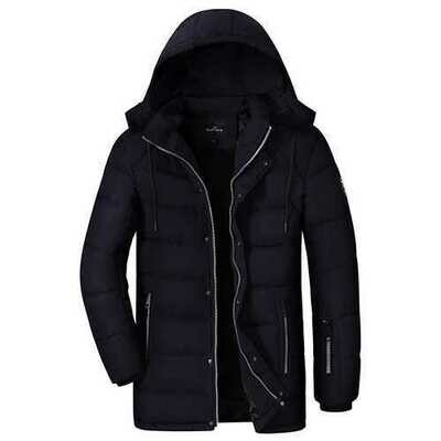 Winter Thick Warm Multi Pockets Zipper Up Padded Jacket Outerwear Parkas for Men
