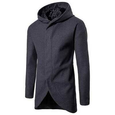 Business Leisure Long Hooded Jacket Wool Trench Coat