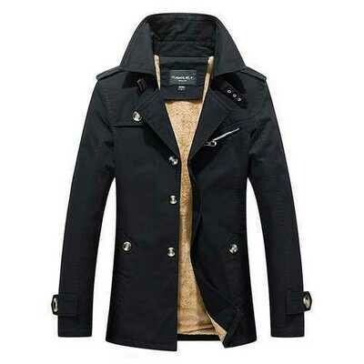 Thick Warm Slim Stylish Mid Long Fall Winter Trench Coats
