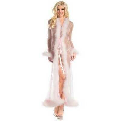 BW1650CP Marabou Robe Candy Pink