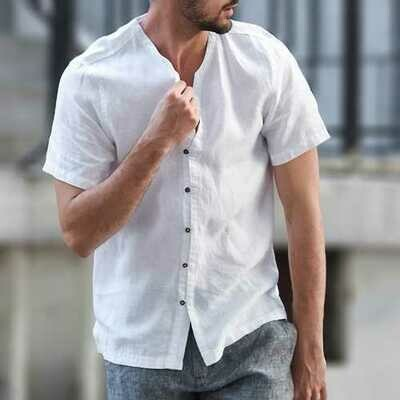 TWO-SIDED Cotton Linen Summer Comfy Pure Color Casual Shirts