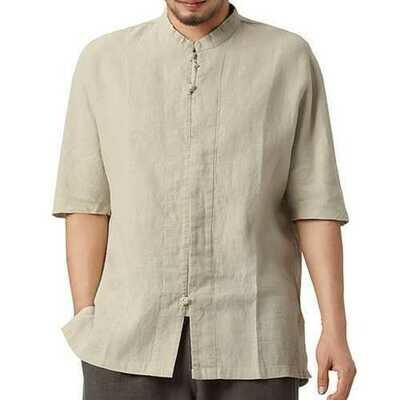 TWO-SIDED Vintage Chinese Style Loose Mandarin Collar Shirts