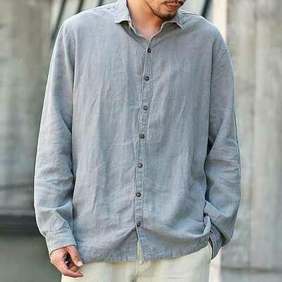 TWO-SIDED Big Men Loose Thin Plus Size L-5XL Cotton Shirts