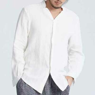 INCERUN Vintage Chinese Style Cotton Loose Shirt Zen Dress