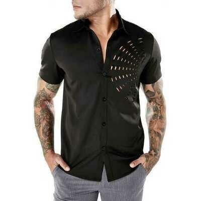 Fashion Fan-shaped Hollow Designer Shirts for Men