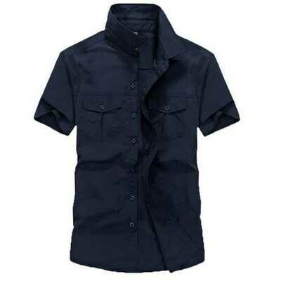 Summer Breathable Quick Drying Comfy Short Sleeve Work Shirt