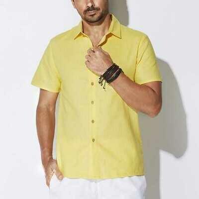 Plus Size Linen Cotton Breatahble Comfy Loose Men Shirts