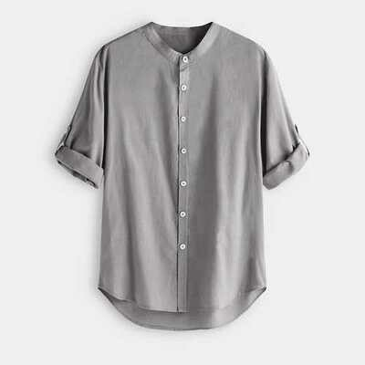 TWO-SIDED Vintage Loose 3/4 Sleeve Length Cotton Shirts