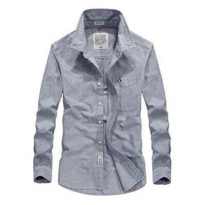 Cotton Comfy Long Sleeve Casual Business Shirts for Men