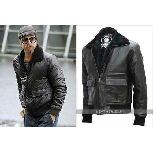 Brad Pitt Film Festival Leather Jacket