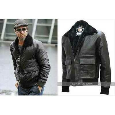 Brad Pitt Film Festival Leather Jacket