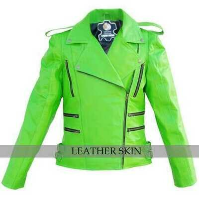 Punk Green Leather Jacket