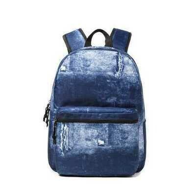 """Case of [25] 13"""" Demin Print Backpack Laptop Bookbag"""