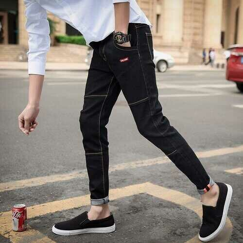 Season Jeans Men's New Nine Pants Pants Pants Youth Trend Casual Stretch Slim Jeans Men