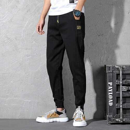 Season New Elastic Waist Jeans Men's Large Size Loose Harem Pants Tide Fat Stretch Slim Nine Pants Bundle Feet
