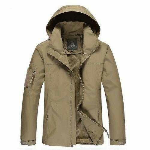 Size M-3XL Men Outdoor Casual Autumn Polyester Zipper Warm Coat Jacket Outwear