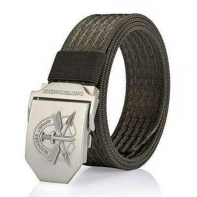125CM Mens Nylon Military Durable Metal Buckle Belt Casual Breathable Jeans Waistband