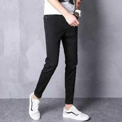 Summer Mens jeans solid color