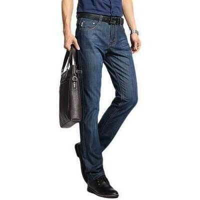 Straight Leg Cotton Breathable Long Jeans