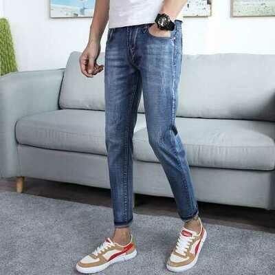 Season Nine Jeans Men's Thin Section Youth Slim Hole Pants Pants Men's Stretch Jeans