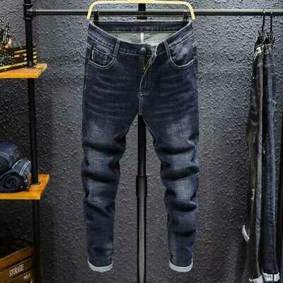 Season New Slim Stretch Pants Pants Youth Men's Fashion Wild Feet Jeans Long Pants 6606