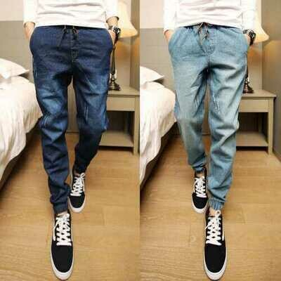 Seasonal Wash Jeans Men's Shrinking Feet Harem Pants Men's Beam Ankle Pants