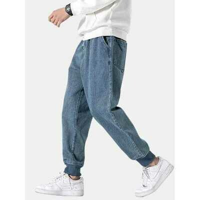 Retro Shadowless Wall Solid Jeans
