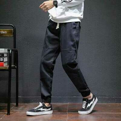 Men's Stretch Jeans Season Casual Beam Trousers Trend Nine Points Loose Tooling Pants Men