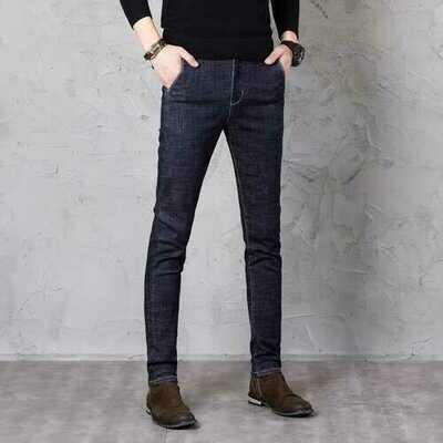 New Men's Feet Slim Jeans Youth Trend Casual Pants Men's Elastic Trousers