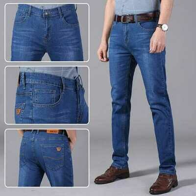 New Jeans Men's Straight Slim Men's Thin Section Casual Men's Pants Youth Men's Jeans Trousers