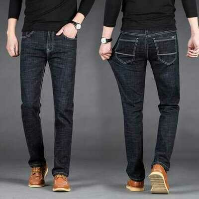 Men's Jeans New Lightweight Breathable Trousers Large Size Men's Business Casual Fashion Stretch Straight Pants