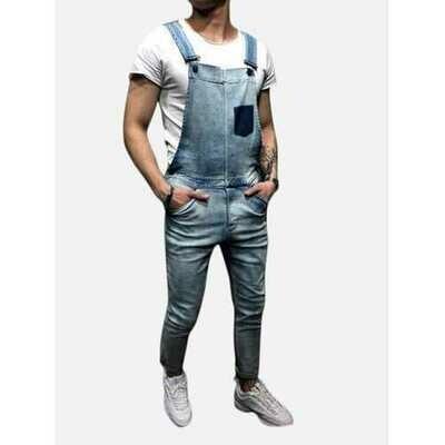 Men's Denim Overalls Jeans
