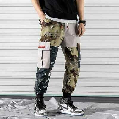 2019 spring large size casual pants men's Korean version of the leg pants multi-pocket camouflage men's pants tooling large size foreign trade