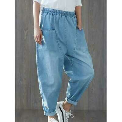 Vintage Baggy Jeans with Pockets