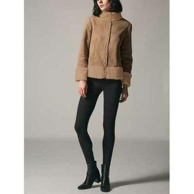 Plus Size Casual Women Turtleneck Coat Patchwork Jacket