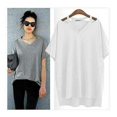 Cut Out To Lounge Short Sleeve Top Std and Plus Sizes