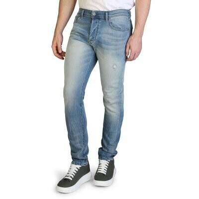 Diesel Men's Denim Jeans - Blue / Black