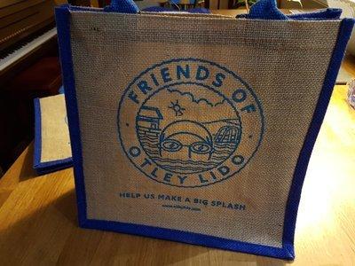 Jute 'Otley Lido' Shopping Bag (Medium Size)