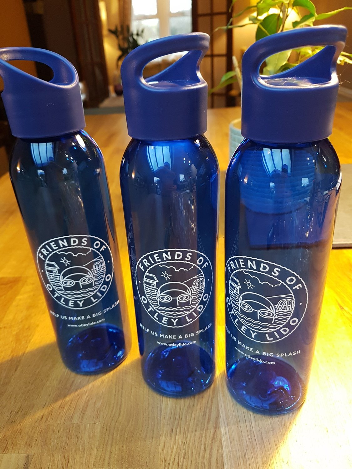 Blue 'Otley Lido' Eco Friendly Drinks Bottles