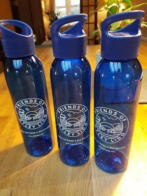 Blue 'Otley Lido' Eco Friendly Drinks Bottles