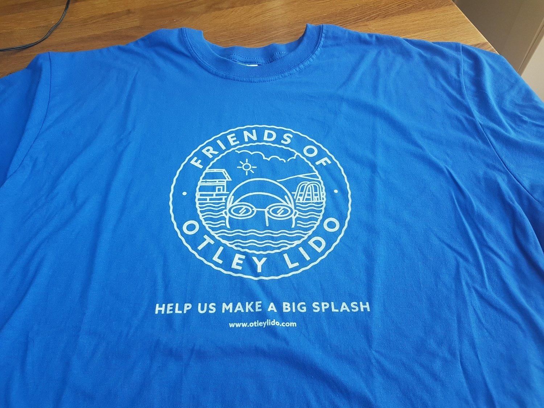 Blue 'Otley LIdo' T-Shirt Mens Sizes L- XL - XXL